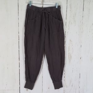 Michael Stars Gray Gauze Skinny Jogger Pants M
